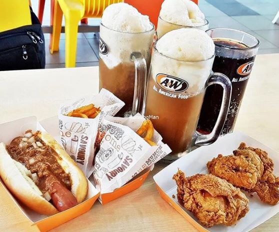 A&W Classic Treats Menu With Prices
