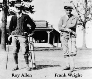 Roy W. Allen (right) and Frank Wright (left).